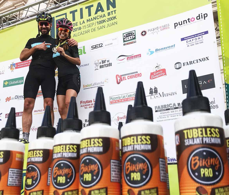 Ganadores de la carrera de Mountain bike Titán de la Mancha 2018