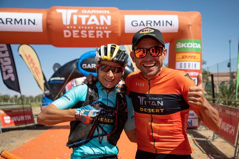 Betalú y Anna Ramirez vencedores Titan Desert 2019